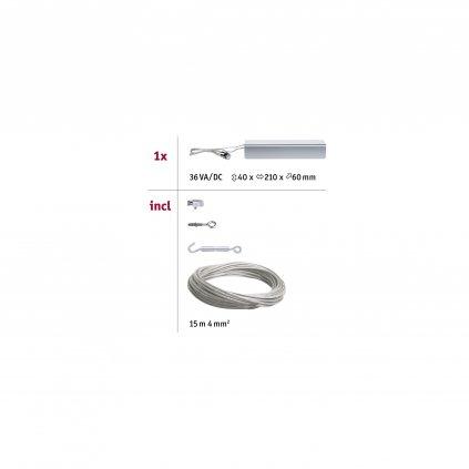 35301 3 paulmann basic trafo pro led lankovy system max 36va 230v 12v dc