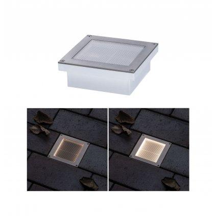 35553 7 paulmann aron zemni solarni svitidlo se senzorem 0 7w led 3000k 10x10cm ip67