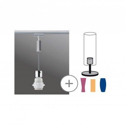 36075 6 paulmann 2easy basic pendulum zaves pro system urail 1x20w e27 matny chrom delka 150cm