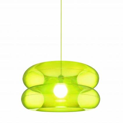 Puff Buff Big Lime, nafukovací zelené závěsné svítidlo, 1x20W E27, prům. 65cm