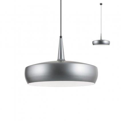 Redo Agadir, moderní závěsné svítidlo, 1x42W E27, metalicky černá, prům.45cm