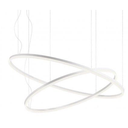 Redo Orbit direct, závěsné kruhové svítidlo, 42+66W LED 3000K, bílá, prům. 60+100cm