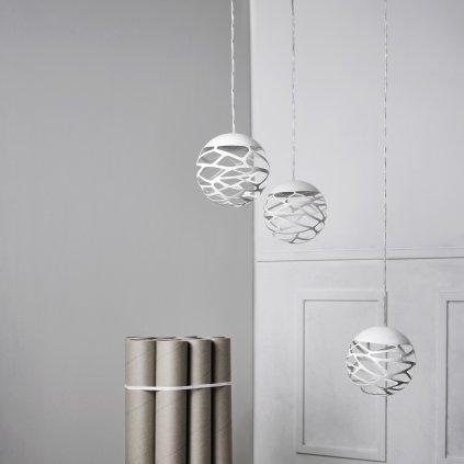 40206 6 studio italia design kelly kluster zavesne svitidlo 1x9w led 2700k stmivatelne bila prum 18cm