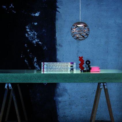 40209 6 studio italia design kelly kluster zavesne svitidlo 1x9w led 2700k stmivatelne bronz prum 18cm