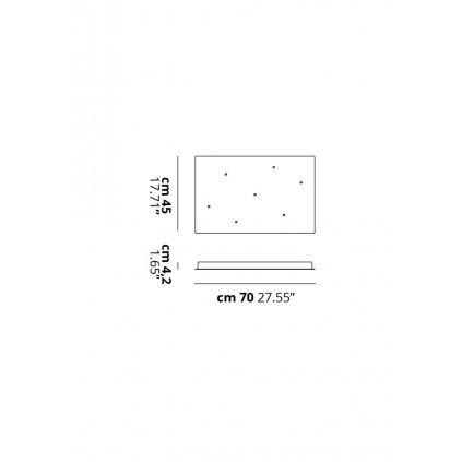 40329 1 studio italia design bila ctvercova rozeta pro max 7 zavesu 70x45cm