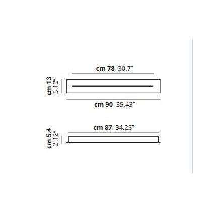 40356 1 studio italia design sky fall linear track short track stropni rozeta pro sky fall bila delka 87cm