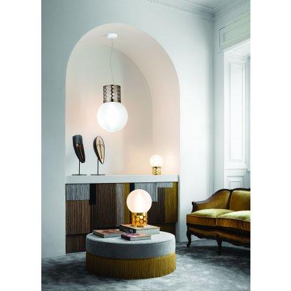 Slamp Atmosfera, designové závěsné svítidlo s cínovou základnou, 2x12W E27, průměr 30cm