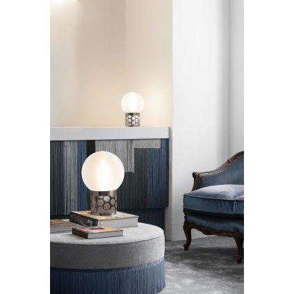 Slamp Small Atmosfera, designová lampička s cínovou základnou, 2x12W E27, výška 29,5cm