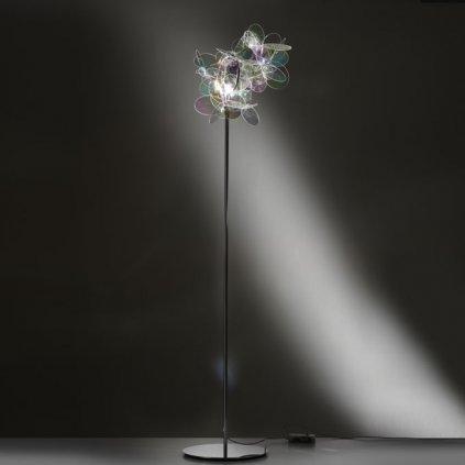 Slamp Mille Bolle, designová stojací lampa v duhových barvách, 1x75W, výška: 165cm