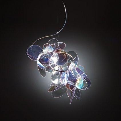 Slamp Mille Bolle, závěsné designové svítidlo v duhových barvách, 1x75W, šířka: 47cm