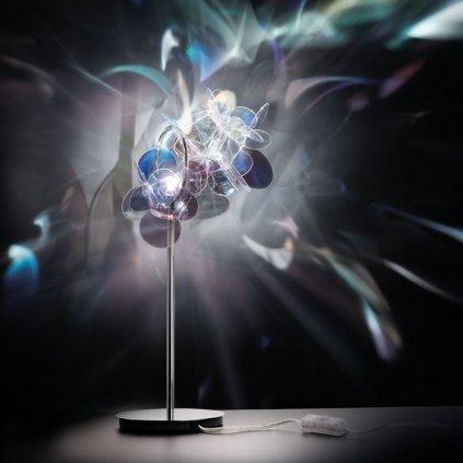 Slamp Mille Bolle, designová stolní lampa v duhových barvách, 1x20W, výška: 41cm