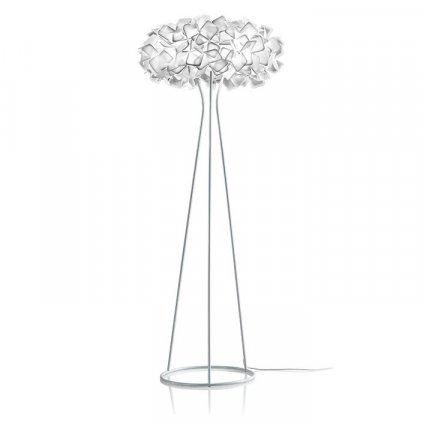 Slamp Clizia floor, stojací designová lampa z Opalflexu s bílým okrajem, 3x12W E27, výška 155cm
