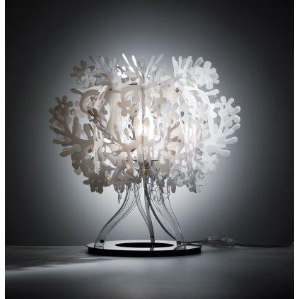 Slamp Fiorellinna table lamp, bílá stolní lampa, 1x28W E27, výška 34cm
