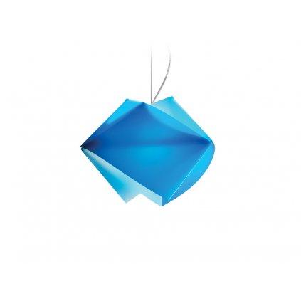 Slamp Gemmy, závěsné svítidlo z Lentiflexu, modrá, 1x75W, šírka 42cm