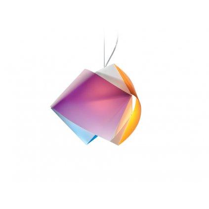 Slamp Gemmy, závěsné svítidlo z Lentiflexu, arlecchino, 1x75W, šírka 42cm