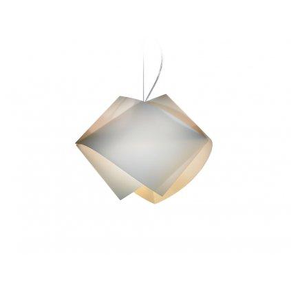 Slamp Gemmy, závěsné svítidlo z Lentiflexu, zlatá, 1x75W, šírka 42cm
