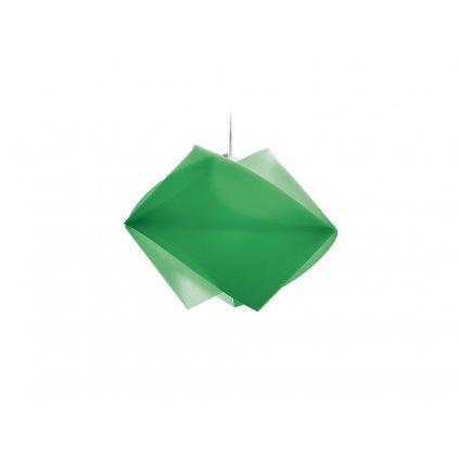 Slamp Gemmy, závěsné svítidlo z Lentiflexu, zelená, 1x75W, šírka 42cm