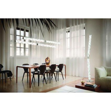 Slamp Hugo, designová stojací lampa, 40W LED 3000K, prisma, výška 205cm
