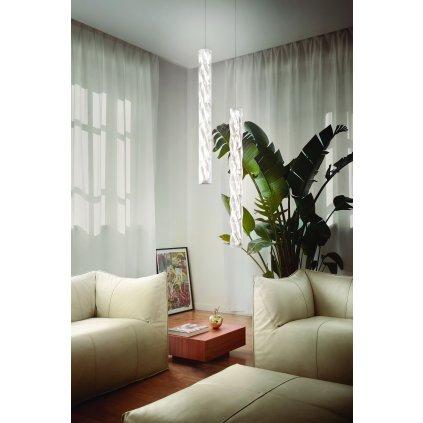 Slamp Hugo vertical, designové závěsné svítidlo, 20W LED 3000K, bílá, délka 100cm
