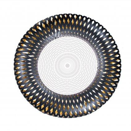 Slamp Kalatos black-gold, designové stropní svítidlo, 4x12W E27, prům 63cm