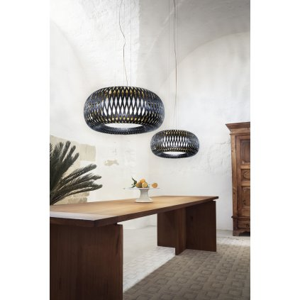 Slamp Kalatos black-gold, designové závěsné svítidlo, 4x12W E27, prům 63cm