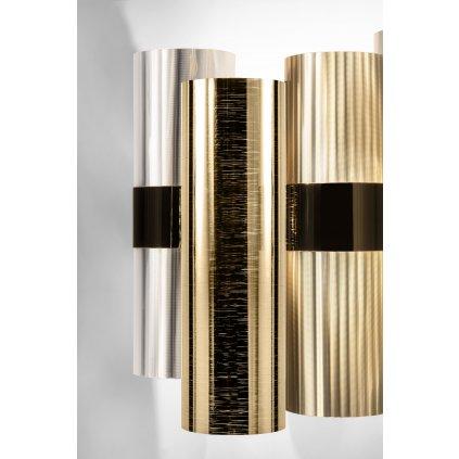 Slamp La-Lollo Gold applique, designové nástěnné svítidlo, 2x5W LED E14, výška 30cm