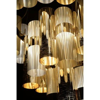 Slamp La-Lollo Gold suspension L, designové závěsné svítidlo, 56W LED 2700K stmívatelné, průměr 80cm