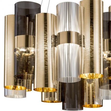 Slamp La-Lollona Gold suspension 4, designové závěsné svítidlo, 242W LED 2700K stmívatelné, průměr 100cm