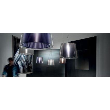 Slamp Liza, designové závěsné svítidlo, 1x70W, prizma, prům. 45cm