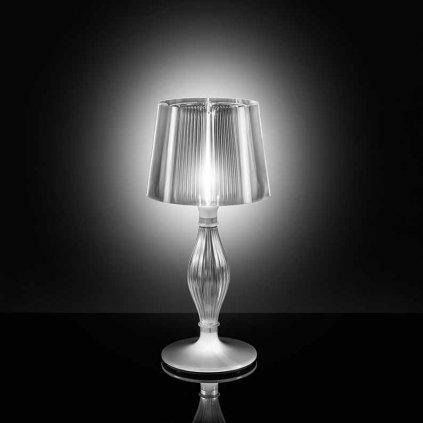 Slamp Liza, designová stolní lampa, 1,5W LED + 70W, prizma, výška 70cm