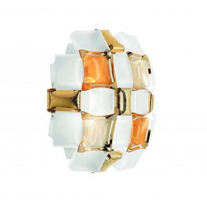 Slamp Mida applique, extravagantní svítidlo, 2x12W LED E27, bílá/amber, 32x32cm