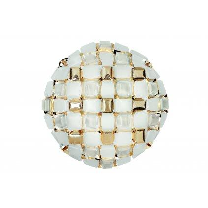 Slamp Mida large, extravagantní svítidlo, 4x12W LED E27, bílá/zlatá, prům. 67cm