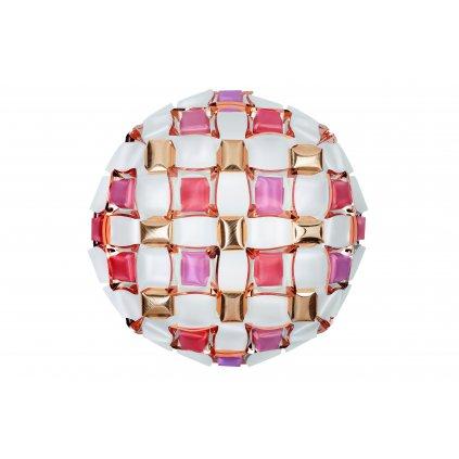 Slamp Mida large, extravagantní svítidlo, 4x12W LED E27, bílá/růžová, prům. 67cm