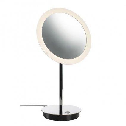 SLV Maganda, stolní lampa, zvětšovací zrcátko s osvětlením LED 4,2W, 3000K chrom, průměr 21,6cm