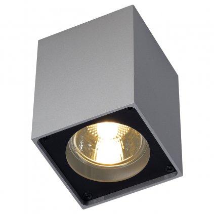 SLV Altra Dice CL-1, hranaté stropní svítidlo v stříbrnošedé/černé úpravě, 1x35W, 7x7cm