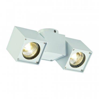 SLV Altra Dice spot-2, hranaté stropní svítidlo s nastavitelným směrem svícení v bílé úpravě, 2x35W, 22x7cm