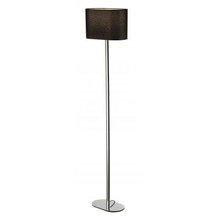 SLV Soprana Oval, stojací lampa z černého textilu s vypínačem, 1x60W E27, výška 166cm
