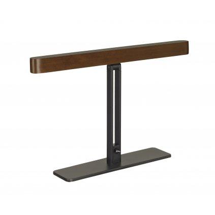 SLV Vincelli D, stolní lampička z tmavého bambusu s vypínačem, 12W 2700K stmívatelné, délka 40cm