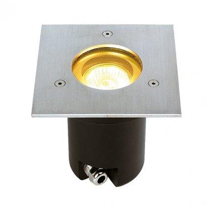 SLV Adjust zápustné svítidlo do země 1xGU10 nerez, 13,5 x 13,5cm, IP67
