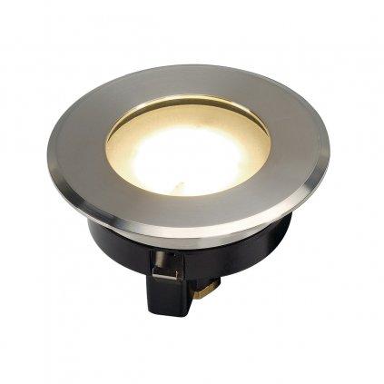 SLV Dasar Flat 80 ploché zápustné svítidlo do země LED 4,3W 3000K nerez, prům. 8cm, IP67