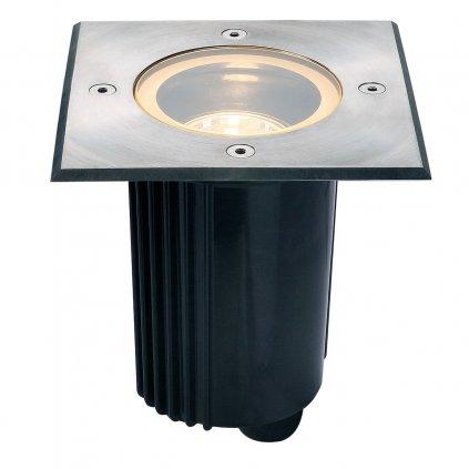 SLV Dasar 80 zápustné svítidlo do země 1xGU10 nerez, s nastavitelným směrem svícení, 13 x 13cm, IP67