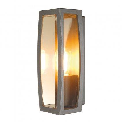 SLV Meridian box, nástěnné venkovní svítidlo, 1xE27 max. 25W, antracitová, 38cm, IP54
