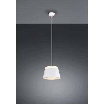 Trio Baroness, bílé závěsné svítidlo, 2x15W E14, průměr 25cm