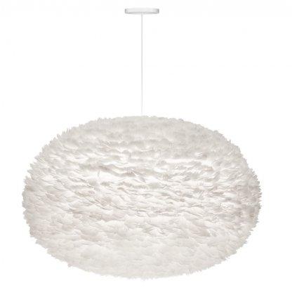 Umage Eos XXL, stínidlo z bílého peří pro závěsné svítidlo, 1x15W LED, prům. 110cm