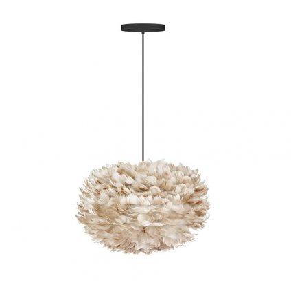 Umage Eos, stínidlo ze světle hnědého peří pro závěsné svítidlo, stolní a stojací lampu, 1x15W LED, prům. 45cm
