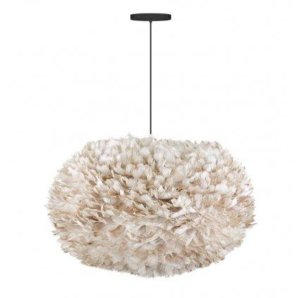 Umage Eos XL, stínidlo ze světle hnědého peří pro závěsné svítidlo, stolní a stojací lampu, 1x15W LED, prům. 75cm