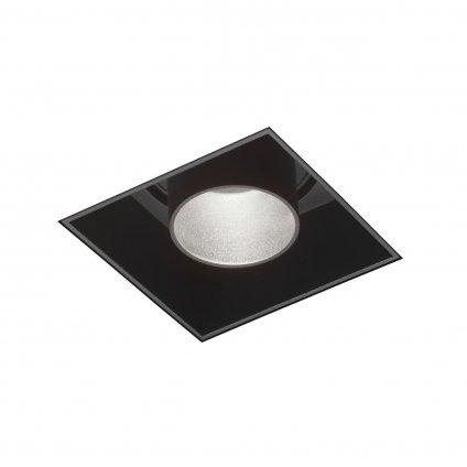 48771 7 wever ducre sneak trimless 1 0 led cerna hranata bezrameckova bodovka 1x7 9w led 2700k 7x7cm