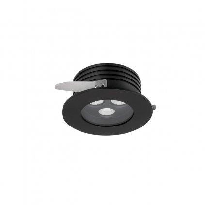 Arelux Xarea, černá zápustná bodovka do podhledu, 3x3W LED 3000K, prům.10cm, IP65