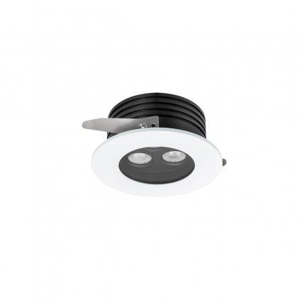 Arelux Xarea, bílá zápustná bodovka do podhledu, 3x3W LED 3000K, prům.10cm, IP65