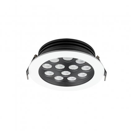 Arelux Xarea, bílá zápustná bodovka do podhledu, 12x1W LED 4000K, prům.16cm, IP65